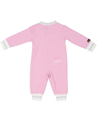Juddlies Designs Cottage Playsuit, Sunset Pink - 100% Organic Cotton Babygrows