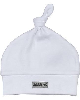 Juddlies Designs Essentials Baby Hat, White - 100% Organic Cotton Hats
