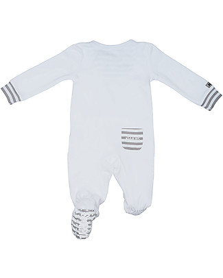 Juddlies Designs Essentials Babygrow with Non-Slip Feet - 100% Organic Cotton Pyjamas