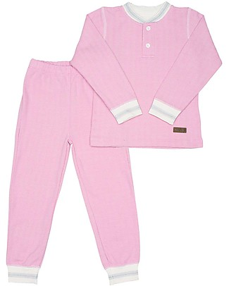 Juddlies Designs Long Sleeved Pyjiama 2 pieces, Sunset Pink, Cottage Collection - 100% Organic Cotton Pyjamas