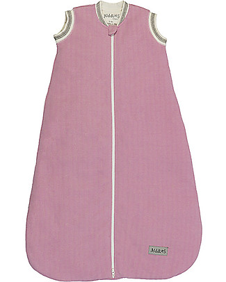 Juddlies Designs Sleeping Bag Cottage Collection, 2.5 Tog, Sunset Pink - 100% Organic Cotton Warm Sleeping Bags