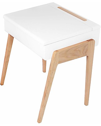 Jungle by Jungle My Little Pupitre, Wooden Children Desk – Bleached Oak/White – Ideal from 3 to 6 years! Tables And Chairs