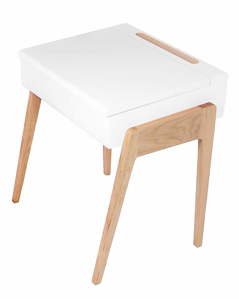 Jungle By My Little Pupitre Wooden Children Desk Bleached Oak White