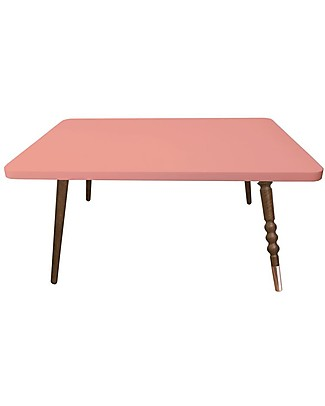 Jungle by Jungle Rectangle Coffee Table My Lovely Ballerine – Old Pink – Walnut and Copper – Height 37 cm Tables And Chairs