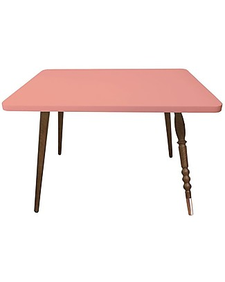 Jungle by Jungle Rectangle Coffee Table My Lovely Ballerine – Old Pink  – Walnut and Copper – Height 47 cm  Tables And Chairs