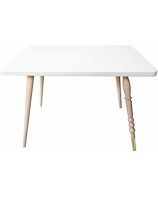 Jungle by Jungle Rectangle Coffee Table My Lovely Ballerine – White – Beech and Brass – Height 47 cm  Tables And Chairs