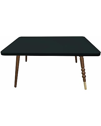 Jungle by Jungle Rectangle Coffee Table My Lovely Ballerine - Black - Walnut and Brass - Height 37 cm  Tables And Chairs