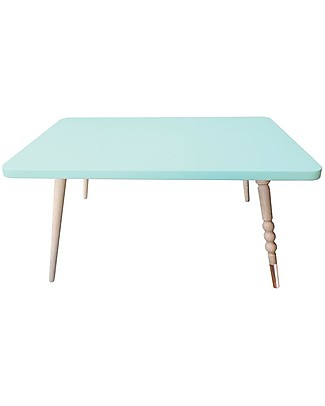 Jungle by Jungle Rectangle Coffee Table My Lovely Ballerine - Mint - Beech and Brass - Height 37 cm Tables And Chairs