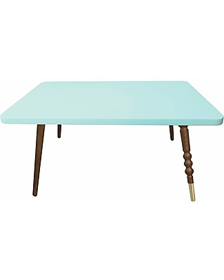 Jungle by Jungle Rectangle Coffee Table My Lovely Ballerine - Mint - Walnut and Brass - Height 37 cm  Tables And Chairs