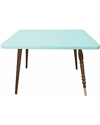 Jungle by Jungle Rectangle Coffee Table My Lovely Ballerine - Mint - Walnut and Brass - Height 47 cm Tables And Chairs