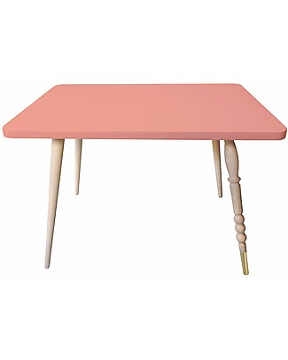 Jungle by Jungle Rectangle Coffee Table My Lovely Ballerine - Old Pink - Beech and Brass - Height 47 cm  Tables And Chairs
