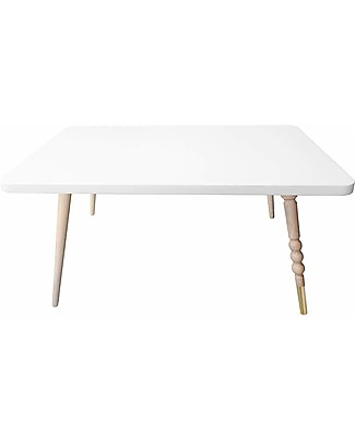 Jungle by Jungle Rectangle Coffee Table My Lovely Ballerine - White - Beech and Brass - Height 37 cm  Tables And Chairs