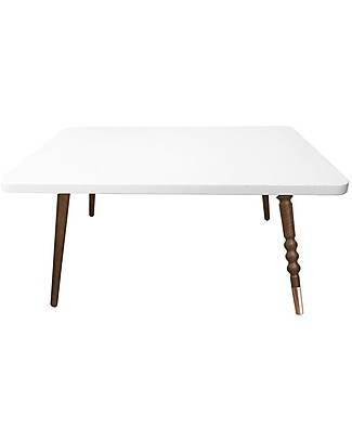 Jungle by Jungle Rectangle Coffee Table My Lovely Ballerine - White - Walnut and Copper - Height 37 cm Tables And Chairs