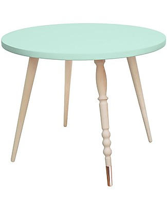 Jungle by Jungle Round Coffee Table My Lovely Ballerine – Mint – Beech and Copper – Height 47 cm – Diameter 60 cm Tables And Chairs