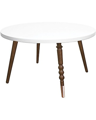 Jungle by Jungle Round Coffee Table My Lovely Ballerine - White - Walnut and Copper - Height 37 cm - Diameter 60 cm  Tables And Chairs