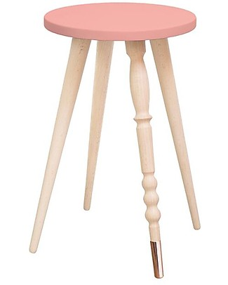 Jungle by Jungle Stool/Table My Lovely Ballerine – Old Pink – Beech and Copper – Height 47 cm – Diameter 30 cm Chairs