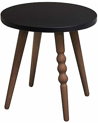 Jungle by Jungle Stool/Table My Lovely Ballerine - Black - Walnut - Height 30 cm - Diameter 30 cm Tables And Chairs
