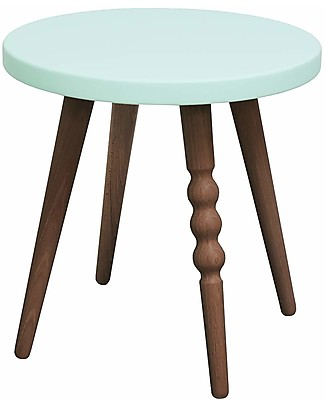 Jungle by Jungle Stool/Table My Lovely Ballerine - Mint - Walnut - Height 30 cm - Diameter 30 cm Tables And Chairs