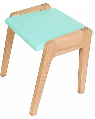 Jungle by Jungle Wooden Stool foMy Little Pupitre Children Desk - Bleached Oak/Mint - Ideal from 3 to 6 years! Chairs