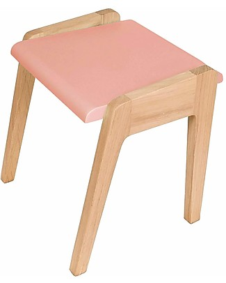 Jungle by Jungle Wooden Stool foMy Little Pupitre Children Desk - Bleached Oak/Old Pink - Ideal from 3 to 6 years! Chairs