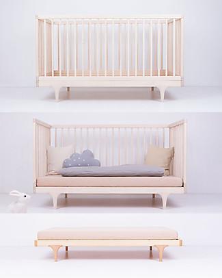 Kalon Studios Caravan Crib Black - Converts to Junior Bed 0-6 Years Cots & Cotbeds
