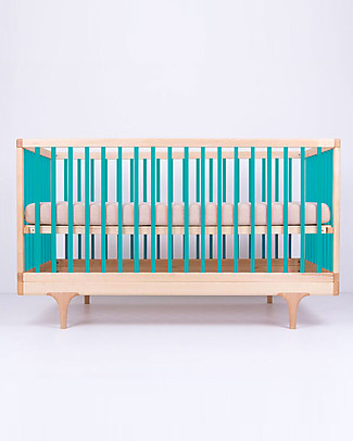 Kalon Studios Caravan Crib Blue - Converts to Junior Bed 0-6 years Cots & Cotbeds