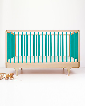 Kalon Studios Caravan Crib Blue - Converts to Junior Bed 0-6 years Cots & Cotbeds
