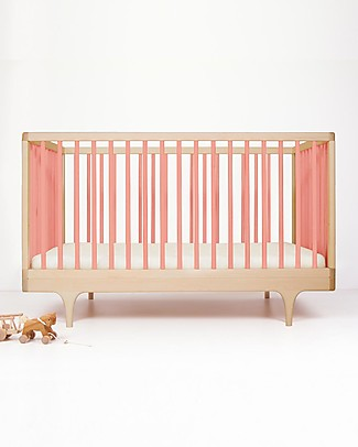 Kalon Studios Caravan Crib Pink - Converts to Junior Bed 0-6 Years Cots & Cotbeds