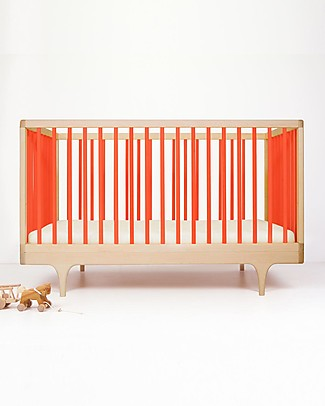 Kalon Studios Caravan Crib Red - Converts to Junior Bed 0-6 Years Cots & Cotbeds