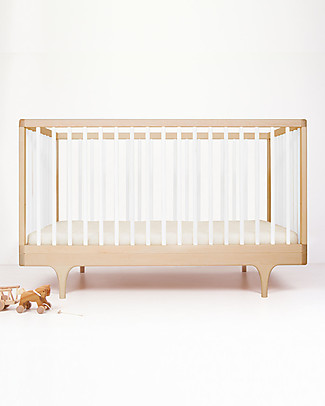 Kalon Studios Caravan Crib White - Converts to Junior Bed 0-6 Years Cots & Cotbeds