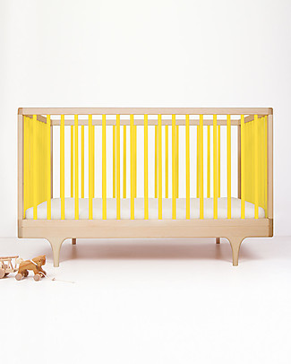 Kalon Studios Caravan Crib Yellow - Converts to Junior Bed 0-6 Years Cots & Cotbeds