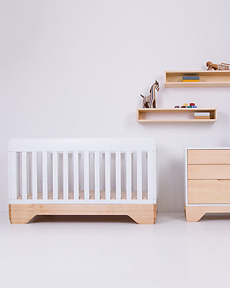 Kalon Studios Echo Crib White - Converts to Junior Bed 0-6 Years Cots & Cotbeds
