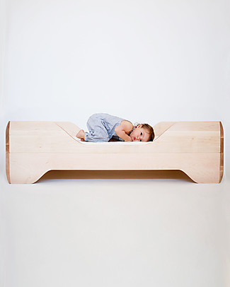 Kalon Studios Echo Toddler Bed Natural Oiled Maple Wood Single Bed