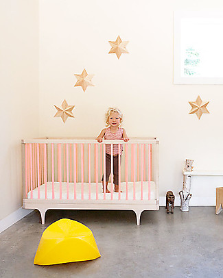 Kalon Studios OUTLET Caravan Crib Pink - Converts to Junior Bed 0-6 Years - Showroom Sample Cots & Cotbeds