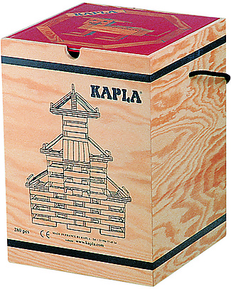 Kapla Kapla 280, Wood Tablets + Technical Booklet + Green Art Book, Natural - Fun and educational! Wooden Blocks & Construction Sets