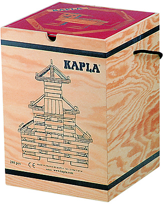 Kapla Kapla 280, Wood Tablets + Technical Booklet + Red Art Book, Natural - Fun and educational! Wooden Blocks & Construction Sets
