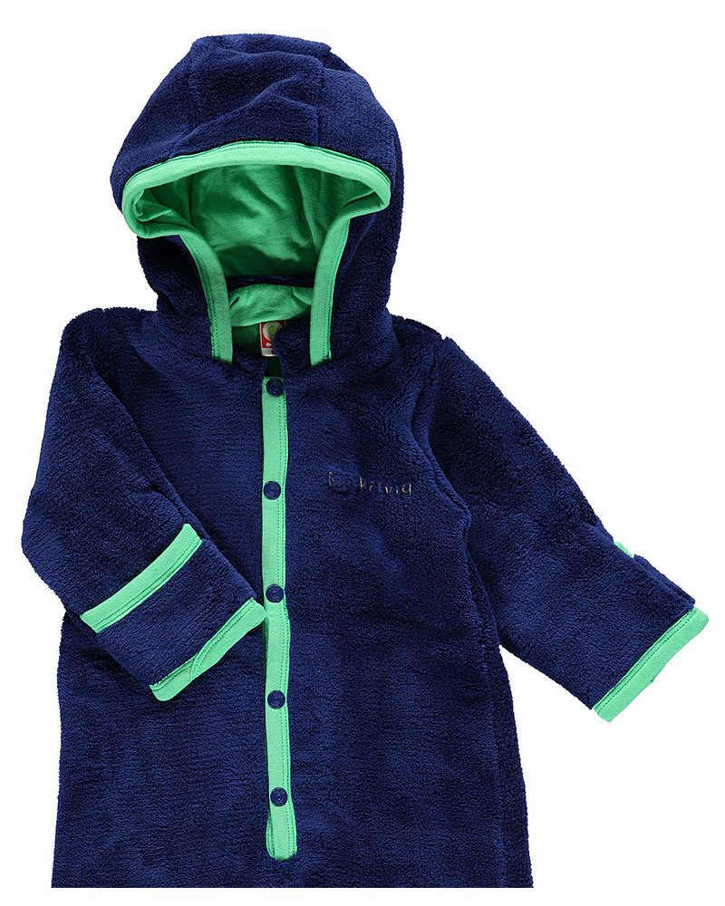 fc8923d47 Katvig Eco Fleece Baby Suit - Navy and Green - Super Soft Recycled ...