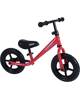 Kiddimoto Balance Bike Super Junior, Red Balance Bikes