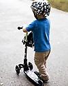 Kiddimoto Foldable Kids 3 Wheeled Scooter U-Zoom, Skulls and Cross Bones Balance Bikes