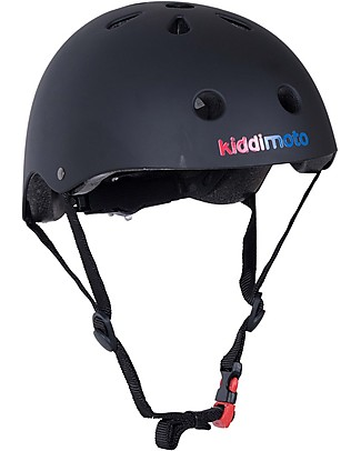 Kiddimoto Kids Bike Helmet, Matt Black  Bycicles