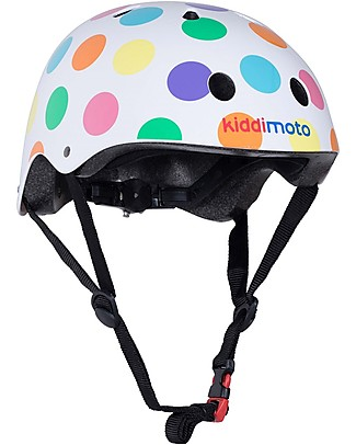 Kiddimoto Kids Bike Helmet, Pastel Dotty  Bycicles