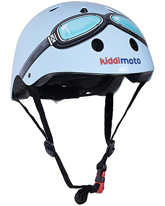 Kiddimoto Kids Bike Helmet with Goggles, Blue  Bycicles