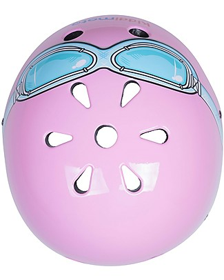 Kiddimoto Kids Bike Helmet with Goggles, Pink Bycicles