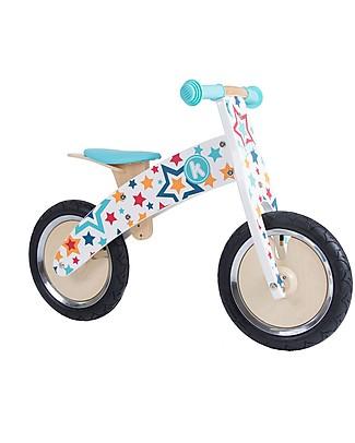Kiddimoto Wooden Balance Bike Kurve, Stelle Balance Bikes