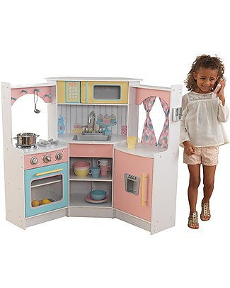 KidKraft Deluxe Corner Play Kitchen - Wood Creative Toys