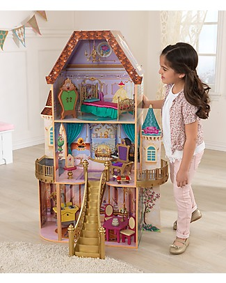 KidKraft Disney Dollhouse, Princess Belle Enchanted - Wood Dolls Houses
