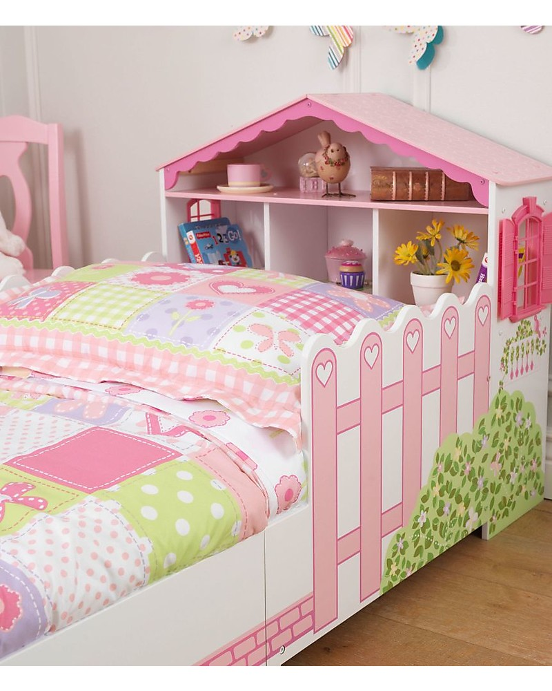 Kidkraft Dollhouse Toddler Bed With Storage Space Wood Girl