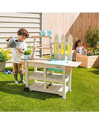 KidKraft Greenville Garden Station - Solid Wood Gardening Toys