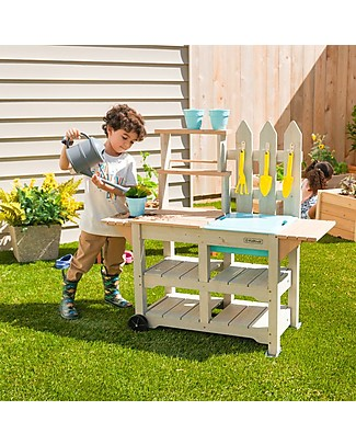 KidKraft Greenville Garden Station - Solid Wood Gardening Toys