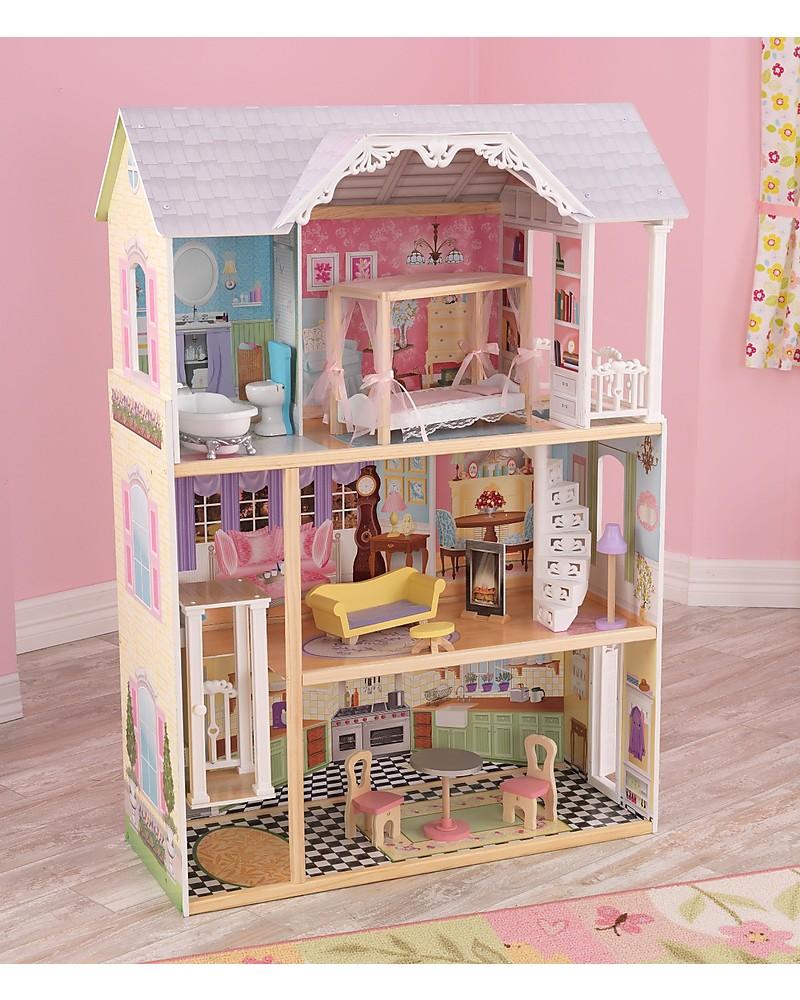 Kidkraft Kaylee Dollhouse With Elevator Wood Girl